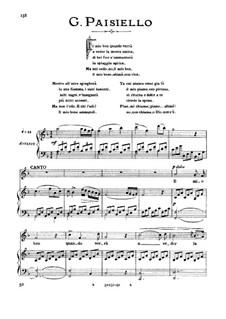 Il mio ben quando verra: High voice in F Major by Джованни Паизиелло
