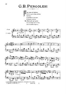 Ogni pena piu spietata (All of Anguish Most Unsparing): Medium-low voice in A Minor by Джованни Баттиста Перголези