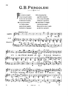 Если любишь : Medium voice in F Minor by Джованни Баттиста Перголези