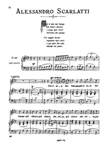 Gia' il sole dal Gange: Medium voice in A Flat Major by Алессандро Скарлатти
