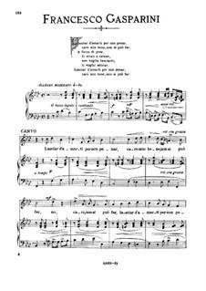Lasciar d'amarti per non penar: Medium voice in F Minor by Франческо Гаспарини