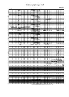 Poème symphonique No.3 for large symphonic orchestra, Percussion group and String trio, MVWV 516: Poème symphonique No.3 for large symphonic orchestra, Percussion group and String trio by Maurice Verheul