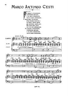 Tu mancavi a tormentarmi: High voice in C Minor by Пьетро Антонио Чести