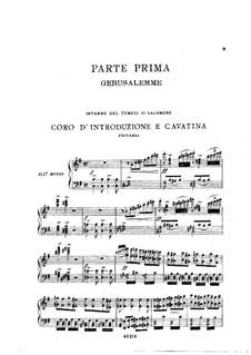 Фрагменты: Акт I No.1, для солистов, хора и фортепиано by Джузеппе Верди