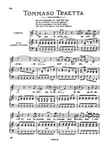 Ah non lasciarmi, no. Medium-high Voice in C Major: Ah non lasciarmi, no. Medium-high Voice in C Major by Tommaso Traetta