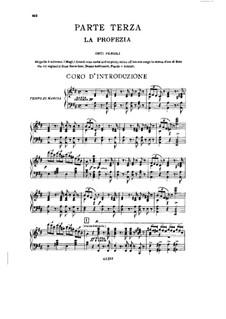 Фрагменты: Акт III No.1, для солистов, хора и фортепиано by Джузеппе Верди