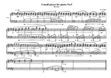 5 small pieces for piano: Пьеса No.5, MVWV 394 by Maurice Verheul