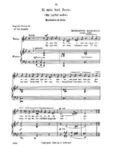 Il mio bel foco: Medium voice in G Minor by Бенедетто Марчелло