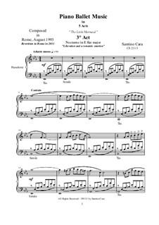 Nocturne in E flat major for piano, CS211/3: Nocturne in E flat major for piano by Santino Cara