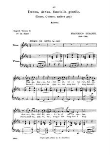 Danza danza fanciulla gentile: Medium voice in B Flat Minor by Франческо Дуранте