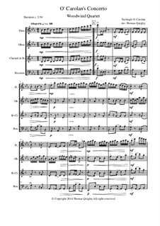 O Carolan's Concerto: For woodwind quartet by Торла О'Каролан