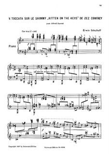 5 Études de Jazz: No.5 Toccata by Эрвин Шульхоф