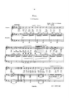 Три дня уже как Нина: Low voice in C Minor by Джованни Баттиста Перголези