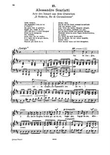 Il Sedecia, Re di Gerusalemme: Caldo sangue, for soprano and piano by Алессандро Скарлатти
