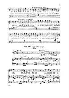 Ah! Fuggi Il Traditor!: For soprano and piano by Вольфганг Амадей Моцарт