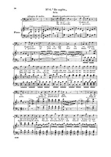Ho capito, Signor, si!: For bass and piano by Вольфганг Амадей Моцарт