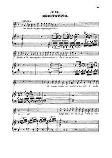 Chi mai del mio provo... Idol mio se ritroso altra amante: For soprano and piano by Вольфганг Амадей Моцарт