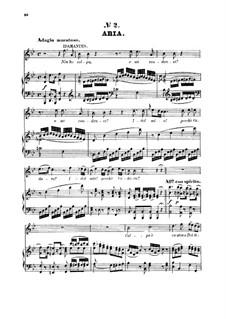 Всё забыл я: For mezzo or tenor and piano by Вольфганг Амадей Моцарт