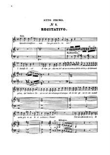 Scene and Aria 'Quando avran fine... Padre, germani, addio!': For soprano and piano by Вольфганг Амадей Моцарт