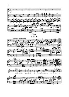 Se il padre perdei: For soprano and piano by Вольфганг Амадей Моцарт