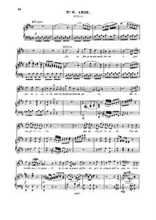 Ah, se fosse intorno al trono: For tenor and piano by Вольфганг Амадей Моцарт