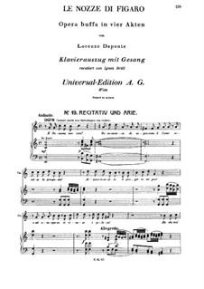 E Susanna non vien... Dove sono: For soprano and piano by Вольфганг Амадей Моцарт