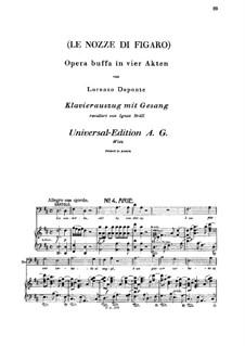 La vendetta: For bass and piano by Вольфганг Амадей Моцарт