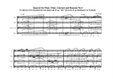 3 Quartets for Flute, Clarinet, Oboe and Bassoon: Quartet No.2, MVWV 377 by Maurice Verheul