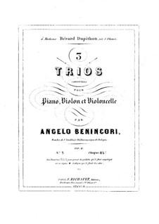 Фортепианное трио No.2 соль минор, Op.6: Фортепианное трио No.2 соль минор by Анджело Мария Бенинкори