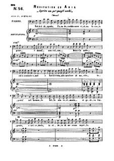 Aprite un po' quegli occhi: For bass or baritone and piano by Вольфганг Амадей Моцарт