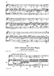 Клаудина фон Вилла Белла, D.239: No.6 Arietta, for medium voice and piano by Франц Шуберт