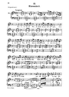 No.12 Одиночество: Для среднего голоса и фортепиано by Франц Шуберт