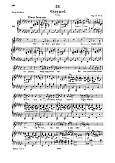Ганимед, D.544 Op.19 No.3: Для среднего голоса и фортепиано by Франц Шуберт