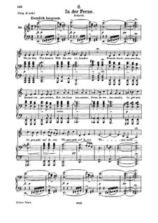 No.6 На чужбине: Для среднего голоса и фортепиано by Франц Шуберт