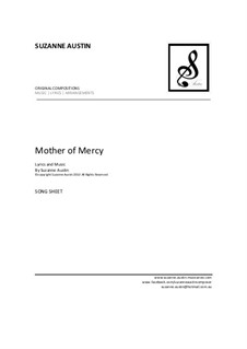 Mother of Mercy (song sheet): Mother of Mercy (song sheet) by Suzanne Austin