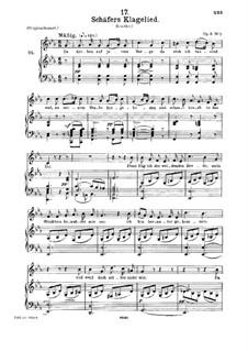 Жалобная песнь пастуха, D.121 Op.3 No.1: Для среднего голоса и фортепиано by Франц Шуберт