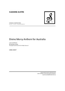 Divine Mercy Anthem for Australia: Song sheet by Suzanne Austin