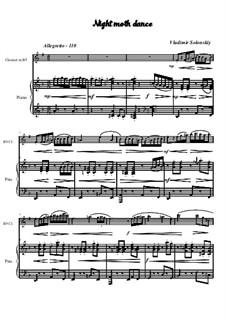 Танец ночного мотылька: Для кларнета и фортепиано by Владимир Солонский