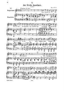 У могилы Ансельмо, D.504 Op.6 No.3: Для среднего голоса и фортепиано by Франц Шуберт