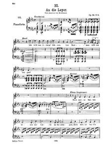 An die Leier (To My Lyre), D.737 Op.56 No.2: Для среднего голоса и фортепиано by Франц Шуберт