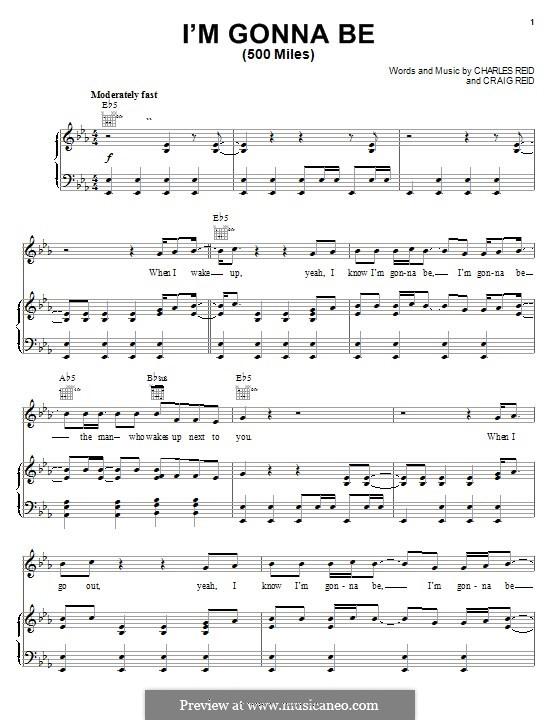 C. Reid, C. Reid: I\'m Gonna Be (500 Miles) ноты на MusicaNeo