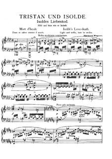Тристан и изольда ноты клавир