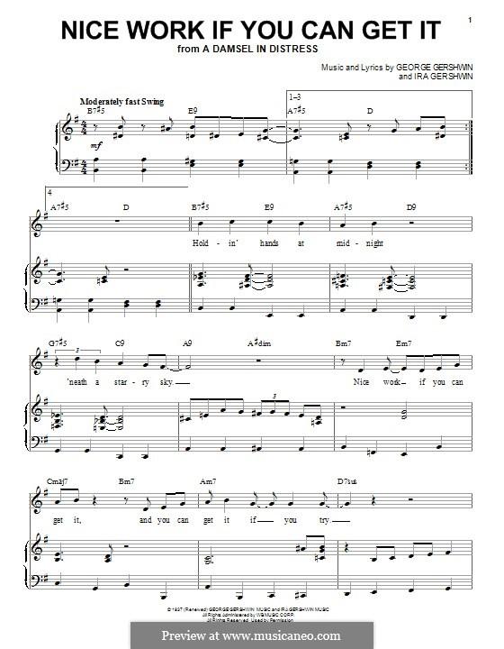 Nice Work if You Can Get It: Для голоса и фортепиано by Джордж Гершвин