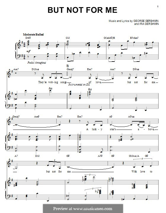 But not for Me: Для голоса и фортепиано by Джордж Гершвин