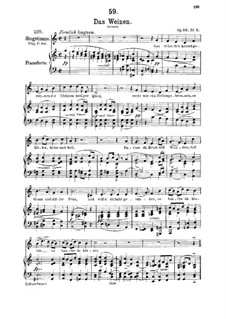 Das Weinen (Weeping), D.926 Op.106 No.2: Для среднего голоса и фортепиано by Франц Шуберт
