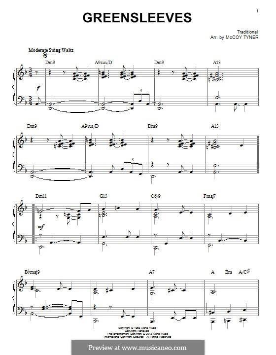 Зеленые рукава: Для фортепиано by folklore