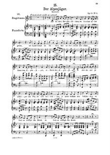 Альпийский охотник, D.524 Op.13 No.3: Для среднего голоса и фортепиано by Франц Шуберт