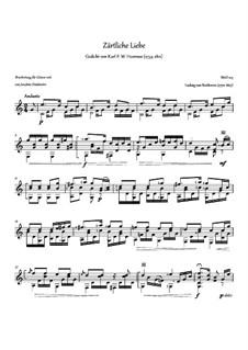 Я люблю тебя, WoO 123: Для гитары by Людвиг ван Бетховен