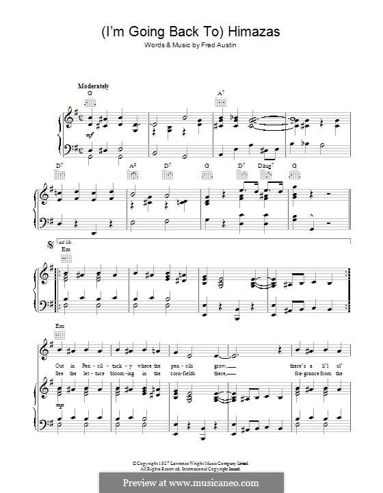 (I'm Going Back To) Himazas: Для голоса и фортепиано (или гитары) by Fred Austin