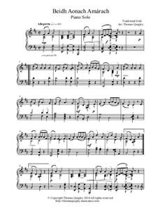 Beidh Aonach Amarach: For solo piano by folklore